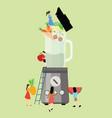 together diet blender fruit healthy food processor vector image