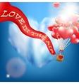 Wedding invitation with balloon EPS 10 vector image