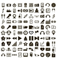 100 eco music set simple style vector image vector image
