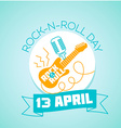 13 April World Rock-n-roll Day vector image vector image