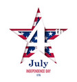 4th july independence day greeting vector image vector image