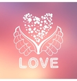 Abstract background with text for love confession vector image vector image