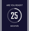 are you ready timer seconds on vector image