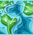 around the world - travel concept vector image