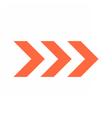 Arrow icon direction button pointer sign vector image vector image