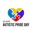 autistic pride day vector image