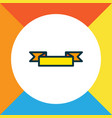 banner icon colored line symbol premium quality vector image vector image