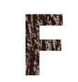 bark letter F vector image vector image