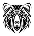 bear tribal tatto animal creativity design vector image