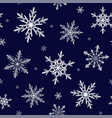 beautiful snowflakes seamless pattern vector image vector image