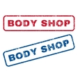 Body Shop Rubber Stamps vector image vector image