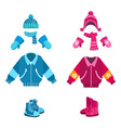 boy and girl winter looks vector image vector image