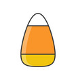 candy corn halloween sweets and candy filled vector image vector image