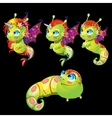Characters unusual green fish unicorns with wings vector image vector image