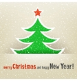 Christmas tree and snow card vector image