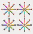 circle of crayons vector image vector image