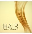 Closeup of long human hair vector image vector image
