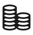 coin stack icon simple style vector image vector image