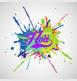 colourful explosion for happy holi vector image vector image