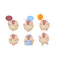 cute sheep character set funny farm animal in vector image vector image