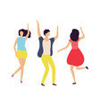 dance entertainment man and woman moving vector image vector image