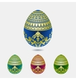Decorative easter egg colection vector image vector image