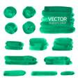 deep green watercolor brush strokes vector image vector image