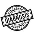 Diagnosis rubber stamp vector image vector image