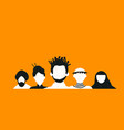 diverse social people team background vector image vector image