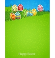 Easter egg in grass vector image vector image