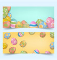 easter eggs group banners set vector image vector image