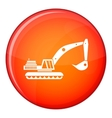 Excavator icon flat style vector image vector image