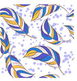 Feathers-colorful vector image vector image
