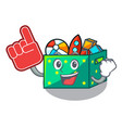 foam finger children toy boxes isolated on mascot vector image