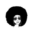 foxy black woman with afro sunglasses silhouette