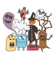 Funny cartoon monsters card vector image vector image