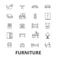 furniture furniture design interior chair vector image