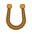 golden horseshoe icon image vector image vector image