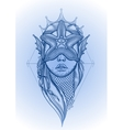Graphic mermaid head vector image vector image