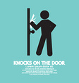Graphic Of Single Man Knocks on The Door vector image