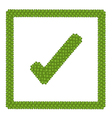 Green Clover of Check Mark Icon in Square Frame vector image vector image