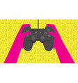 hands holding joystick to play games vector image vector image