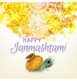 Happy Janmashtam card vector image vector image