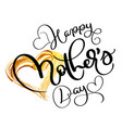happy mothers day text on acrylic gold background vector image vector image