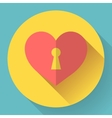 heart with keyhole icon vector image