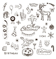 Holidays doodle set vector image
