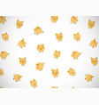 horizontal greeting card with cute cartoon yellow vector image vector image