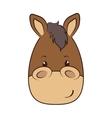 horse face animal cartoon vector image vector image