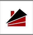 house real estate logo design vector image vector image
