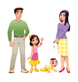 Human family with mother father and children vector image
